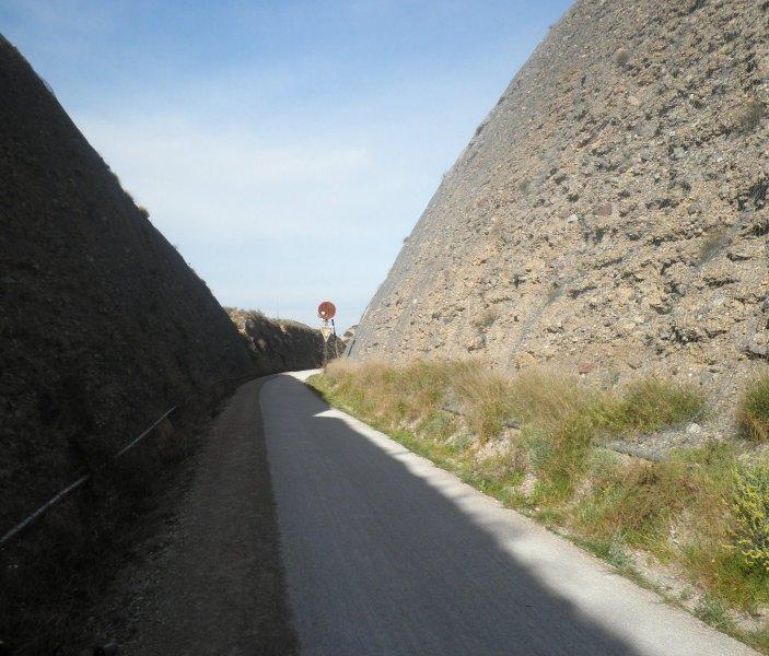 Señal avanzada estación de La Ribera (lado Murcia). Marzo 2013